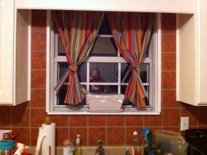DIY Curtains at Night